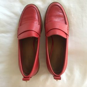 Coach Red Leather Loafers